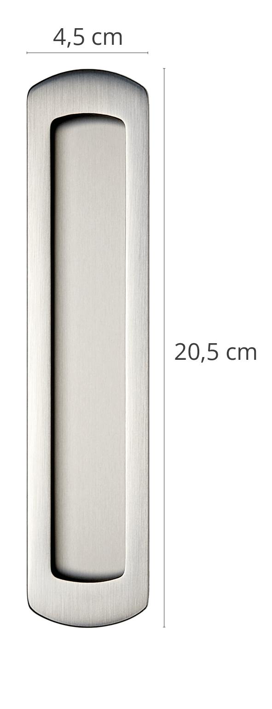 Schiebetürgriff Bracchiano Einzelbild mit Maßangaben