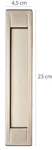 Schiebetürgriff Nuovo Einzelbild mit Maßangaben