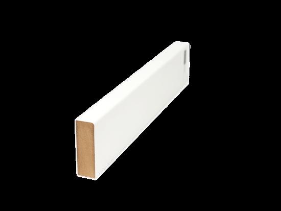 Foto der farbigen Deckenblende für rahmenlose Schiebetüren als Stilschiebetüren auf Maß