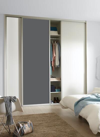 Rahmenschiebetür Holzschiebetür auf Maß mit Dekorfüllung