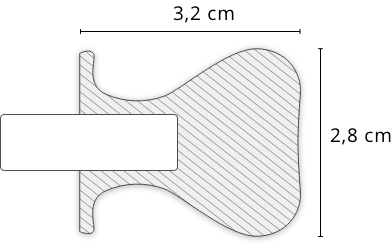 Zeichnung des Alu Schiebetür Profils Lima mit Maßangaben