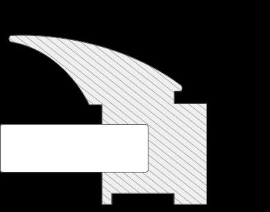 Zeichnung des Alu Schiebetür Profils Luna mit Maßangaben