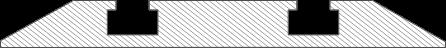 Querschnitt Zeichnung abgeschrägte Schiebetür Bodenschiene
