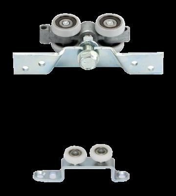 Einzelne Schiebetür Laufrolle hängend für geführte Schiebetüren mit Aluminiumrahmen