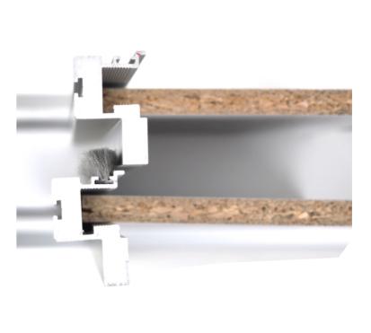 Bauteil: Draufsicht der Staubbürste in der Rahmenschiebetür