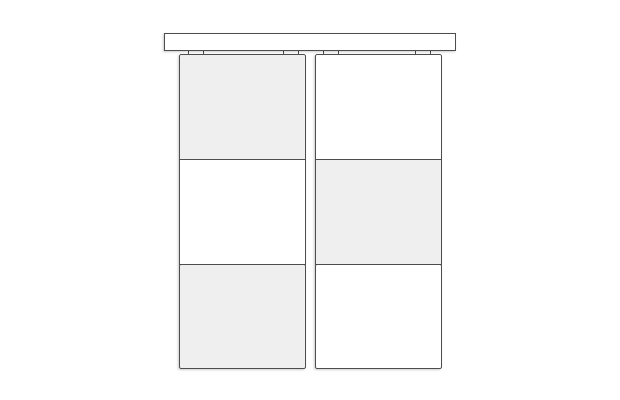 Schiebetür mit füllungstrennender Teilung