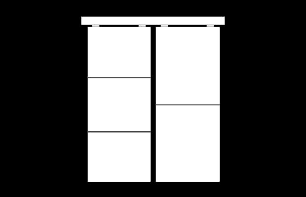 Schiebetür mit optischer nicht-füllungstrennender Teilung