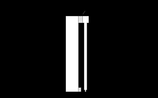 Distanzprofil für überbrückung von Schiebetür Hindernisskzen Skizze