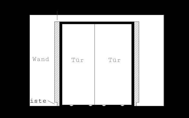 Wandanschlussprofil für das Überbrücken von Fußleisten Skizze