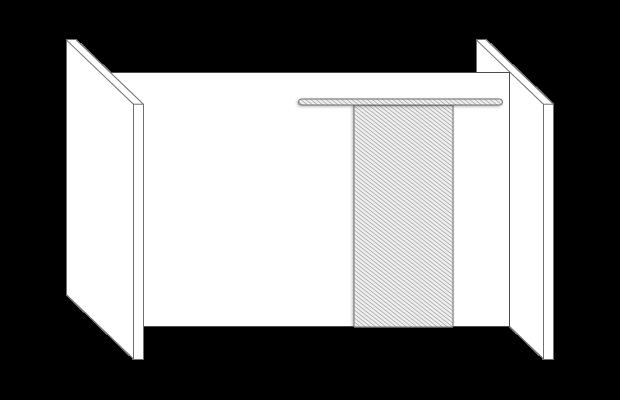 Durchgangsschiebetür Zimmerersatz Skizze