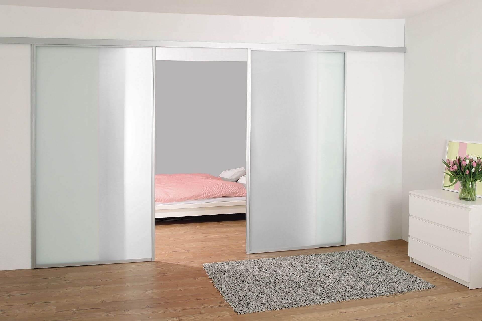 Durchgangsschiebetür Glasschiebetür Schlafzimmer mit Aluminiumrahmen