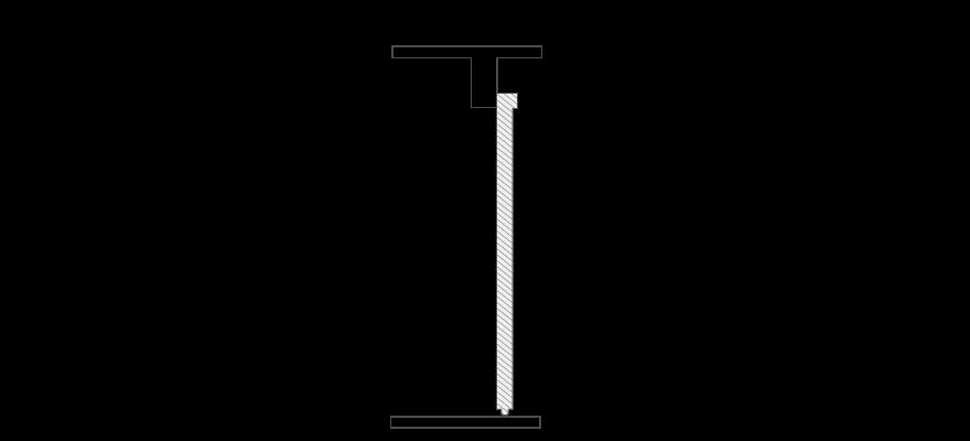 Schiebetür Schiene wird vor der Wand montiert