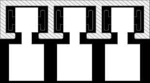 Profilansicht der unteren Bodenschiene