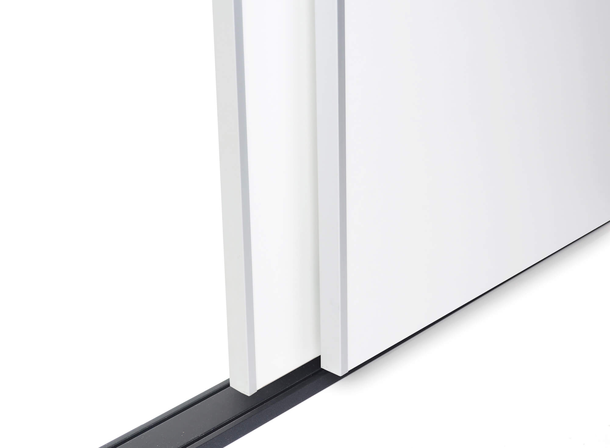 BS-Standard Schwarz Rau | Lackierter Schiebetür-Bausatz Bodensystem für Schrank- /Nischen-Türen