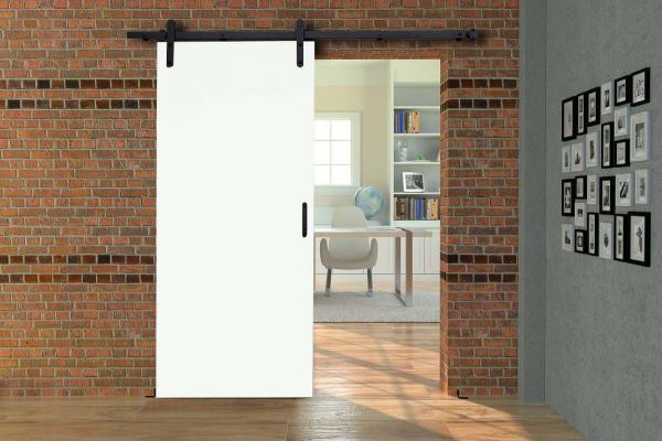 HS-Loft auf Maß | Rahmenlose Holzschiebetür im Loft-Design auf Maß