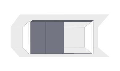 Drempelschiebetüren Schiebetüren für untere Dachschrägen