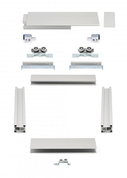 HS-Komfort mit Rahmentyp A | Aluminium-Schiebetür-Bausatz Hängesystem