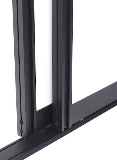Schiebetür Bausatz BS-Komfort mit Rahmentyp A als Schwarze Schiebetür