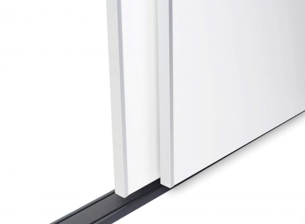 BS-Standard Schwarz Rau   Lackierter Schiebetür-Bausatz Bodensystem für Schrank- /Nischen-Türen
