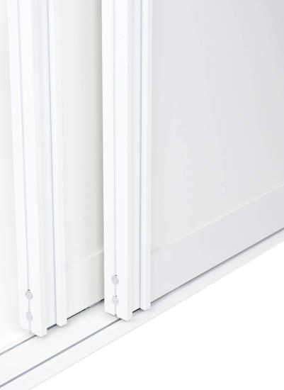 Schiebetür Bausatz BS-Komfort mit Rahmentyp A als Weiße Schiebetür