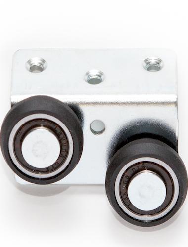 Schiebetür Rolle mit abriebfestem Kunststoff