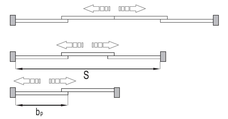 Montageskizze für MSB-Standard   Schiebetür-Bausatz Bodensystem für Möbeltüren im Korpus