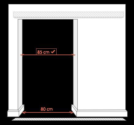 Aufmaß Beispiel für eine Durchgangsschiebetür Zimmertürersatz