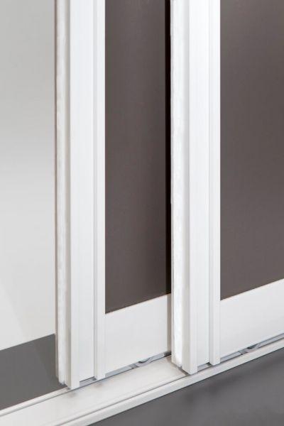BS-Komfort Schiebetürbausatz mit Rahmentyp A mit weißen Schienen ganze Tür