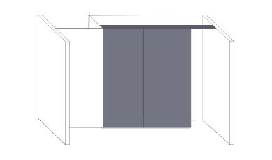 Schiebetür Bausätze für Schrank- und Nischenschiebetüren