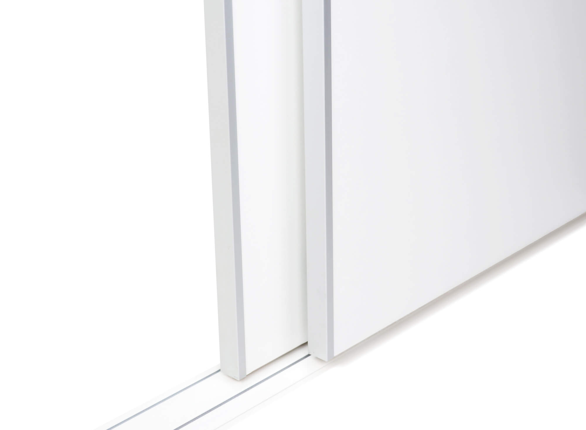 BS-Standard Weiß Matt | Lackierter Schiebetür-Bausatz Bodensystem für Schrank- /Nischen-Türen