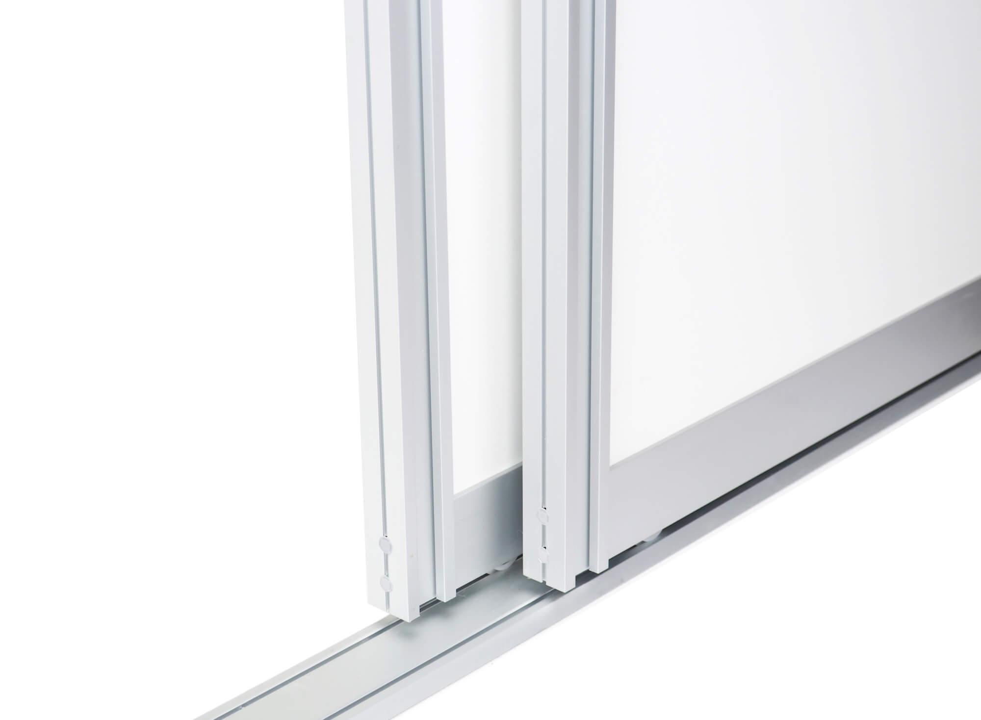 BS-Komfort mit Rahmentyp A|Aluminium-Schiebetür-Bausatz Bodensystem für Schranktüren/Raumteiler