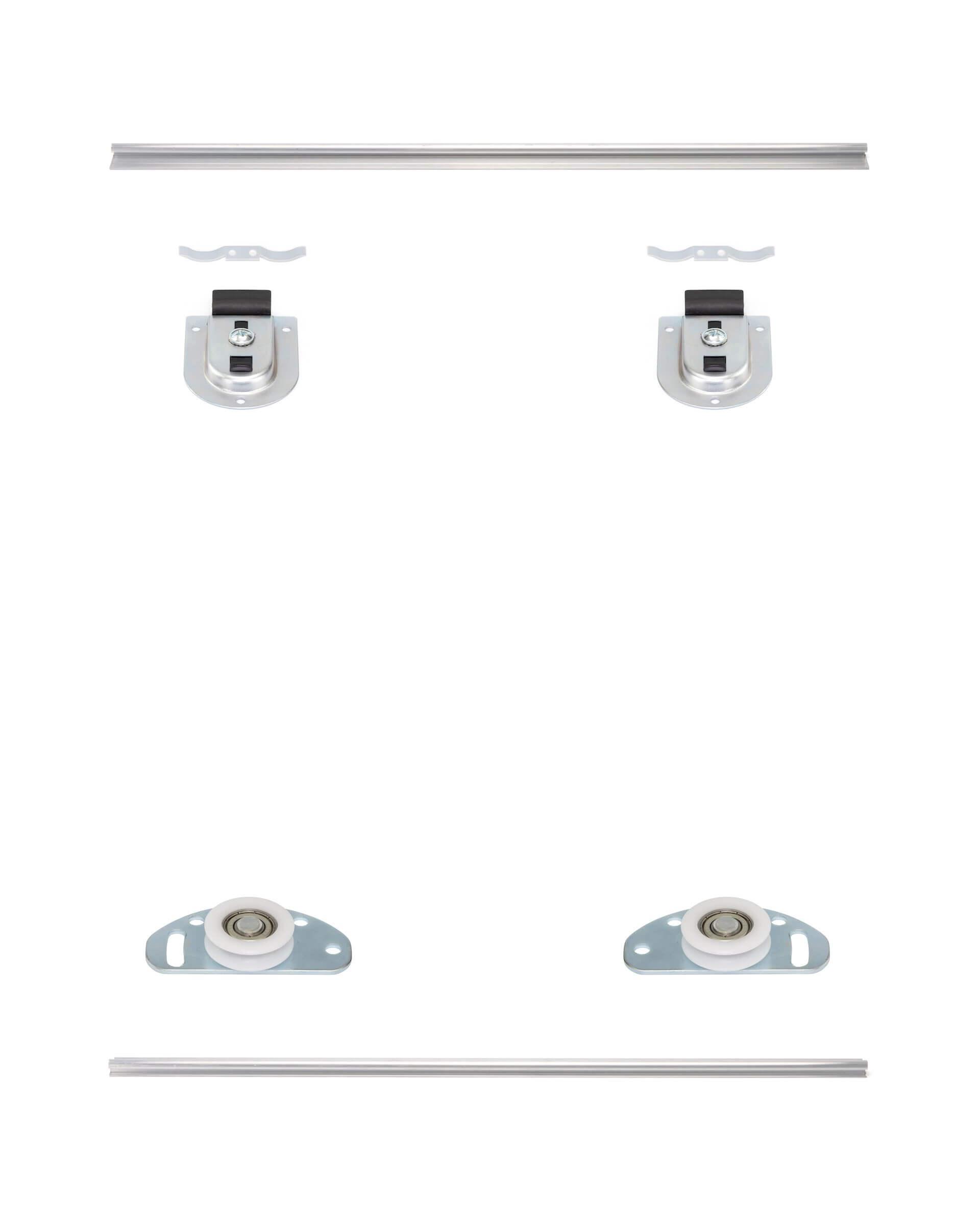 MSB-Standard | Schiebetür-Bausatz Bodensystem für Möbeltüren im Korpus