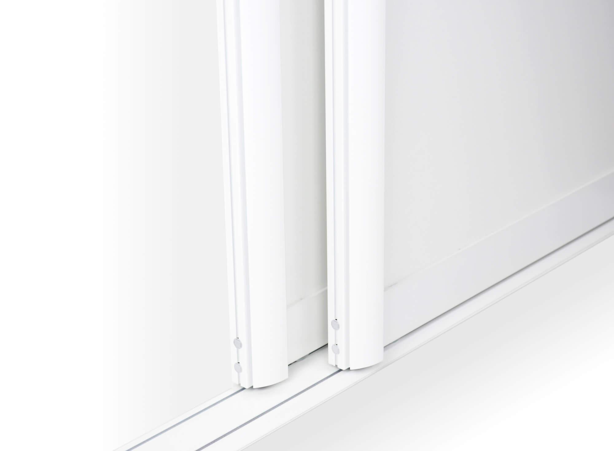BS-Komfort mit Rahmentyp C10 Weiß Matt Lackierter Schiebetür-Bausatz für Schrank-/Nischentüren