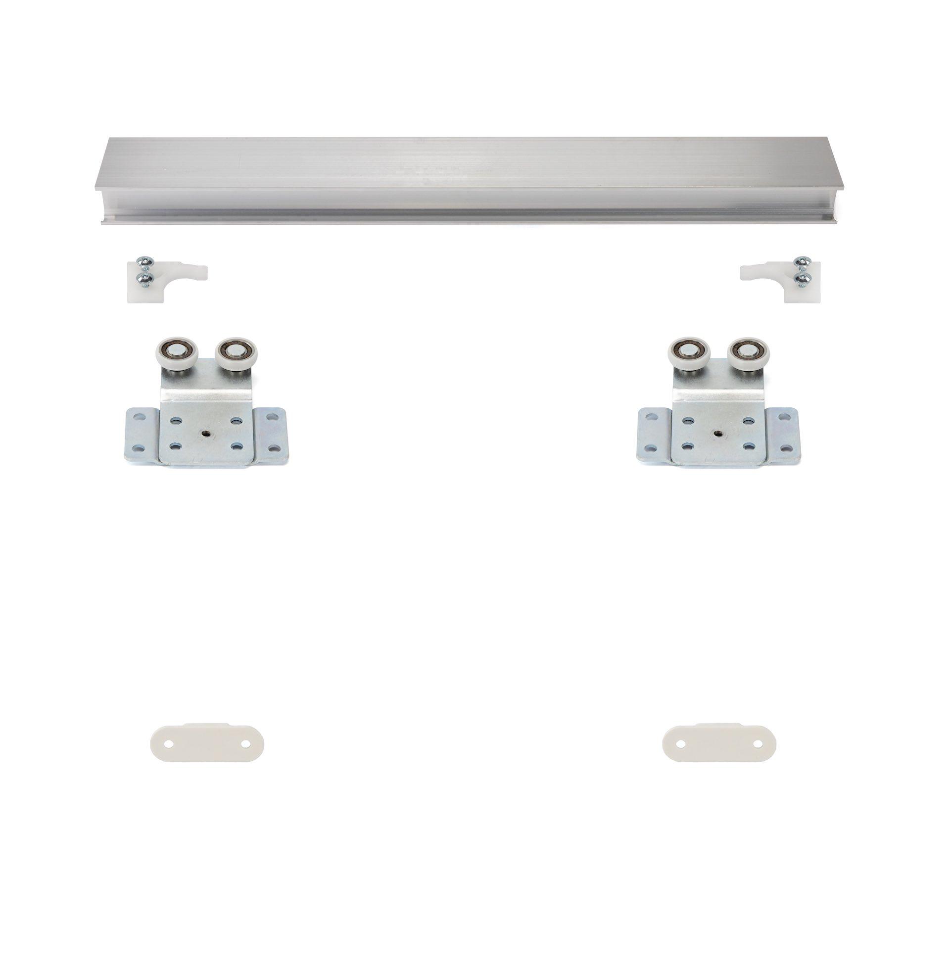MSH-Komfort | Schiebetür-Bausatz Hängesystem für Möbeltüren im Korpus