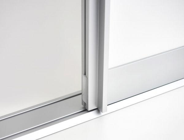 BS-Komfort mit Rahmentyp B | Aluminium-Schiebetür-Bausatz Bodensystem für Schrank-/Nischen-Türen