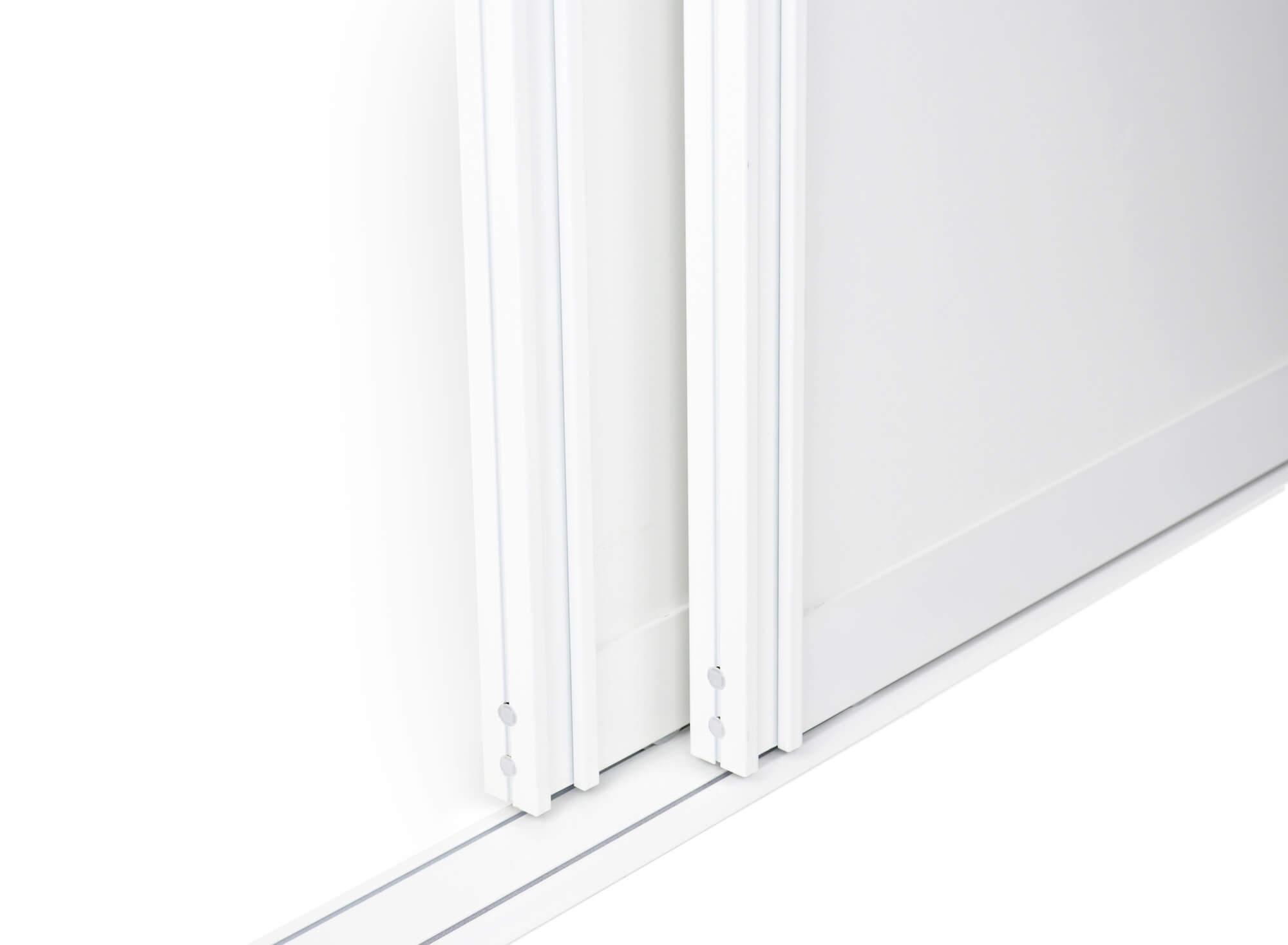 BS-Komfort mit Rahmentyp A Weiß Matt|Lackierter Schiebetür-Bausatz für Schranktüren/Raumteiler