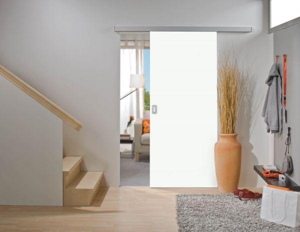 Rahmenlose Holzschiebetür im Maß 1010 x 2000 mm