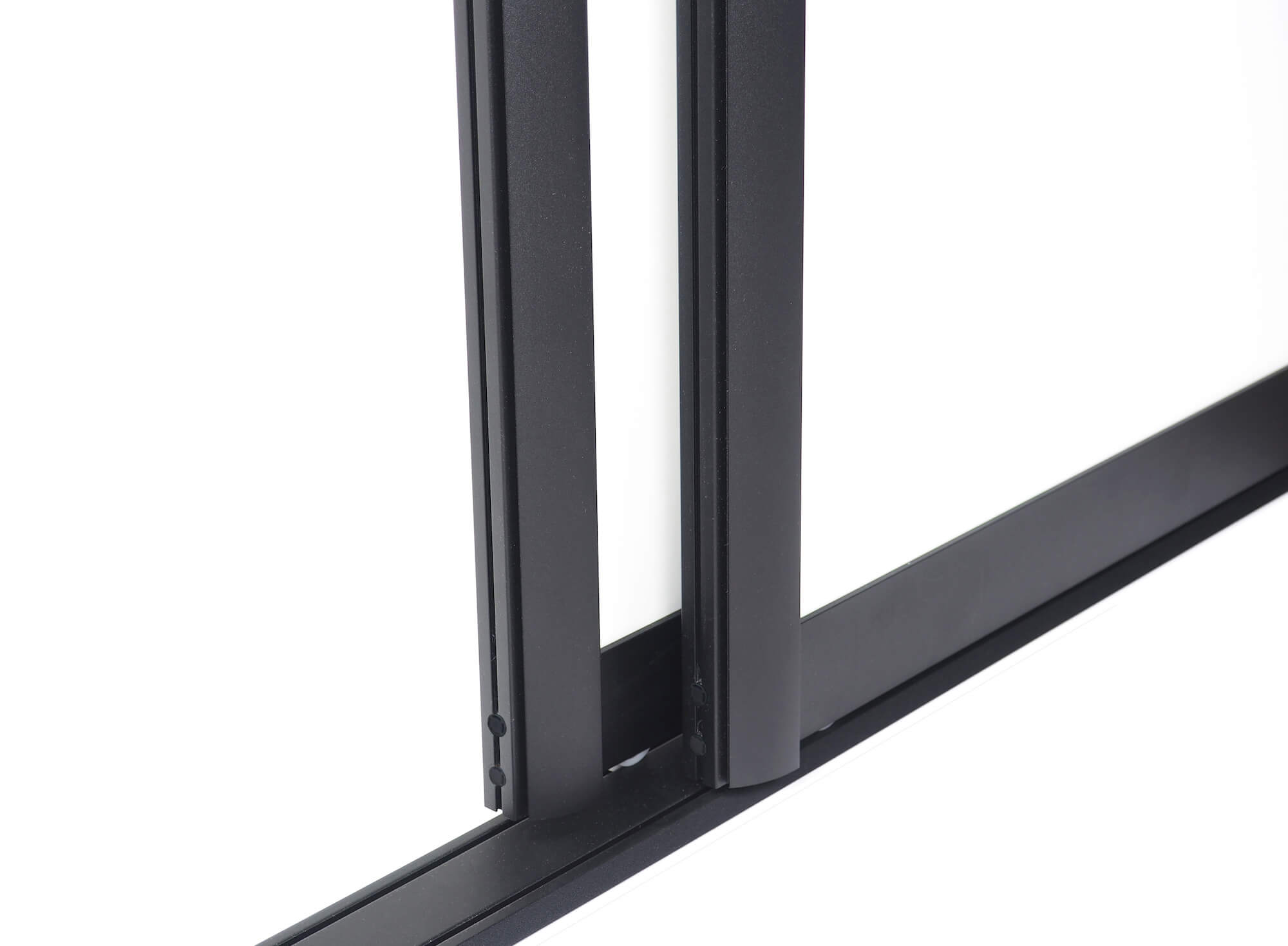 BS-Komfort mit Rahmentyp C10 Schwarz Rau|Lackierter Schiebetür-Bausatz für Schrank-/Nischentüren