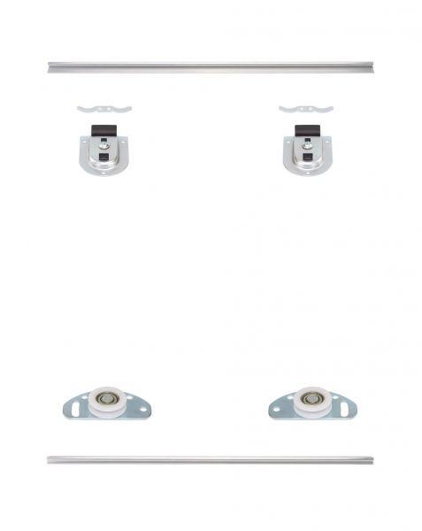 MSB-Standard   Schiebetür-Bausatz Bodensystem für Möbeltüren im Korpus