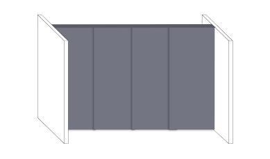 Schiebetüren als Raumteiler zur Unterteilung bestehender Räume