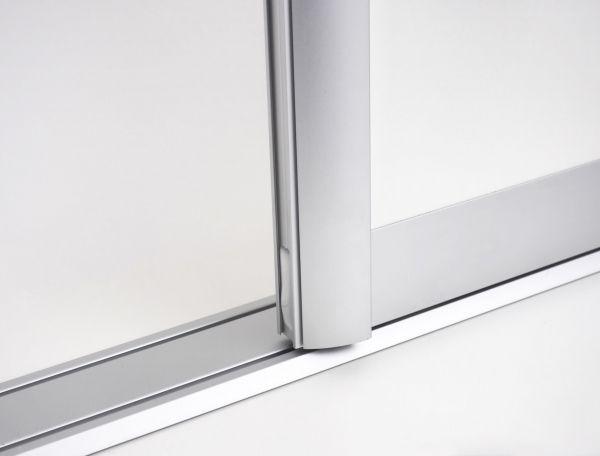 BS-Komfort mit Rahmentyp C | Aluminium-Schiebetür-Bausatz Bodensystem für Schrank-/Nischen-Türen